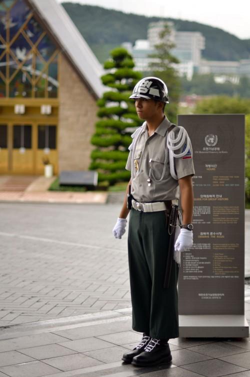 Korean Military in Busan at UN Memorial