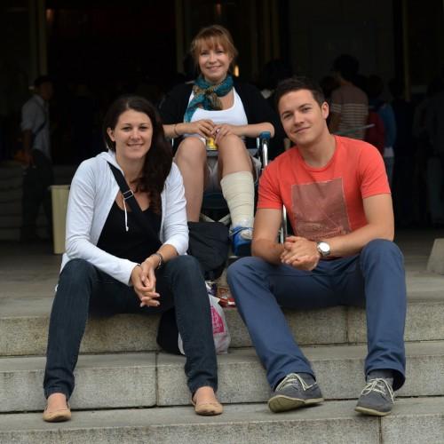 Claudia, Lena and Erik at Tokyo National Museum