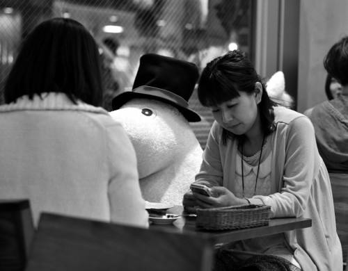 Moomin café in Tokyo