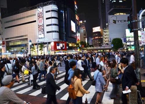 Street view of Shibuya