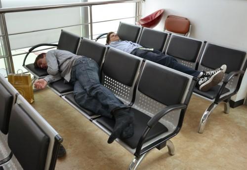 Jonas and Mattias asleep