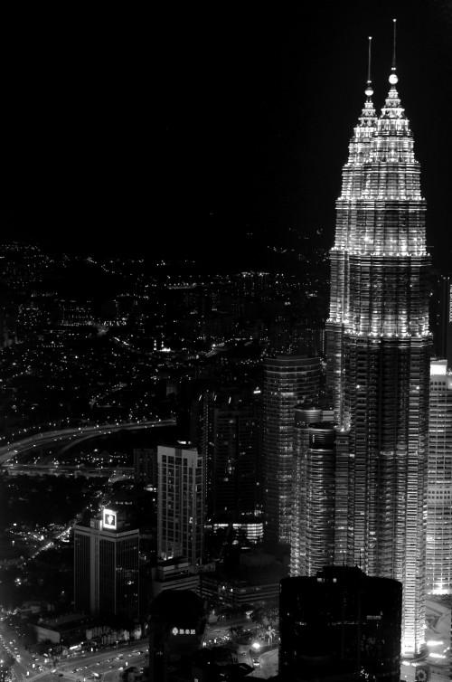 Petronas Towers in Kuala Lumpur, Malaysia, standing tall in the night - Erik Winther 2012