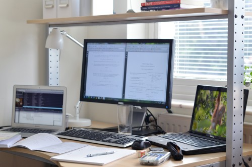 My workplace at home, while studying Signal Theory in August 2012 - Erik Winther 2012