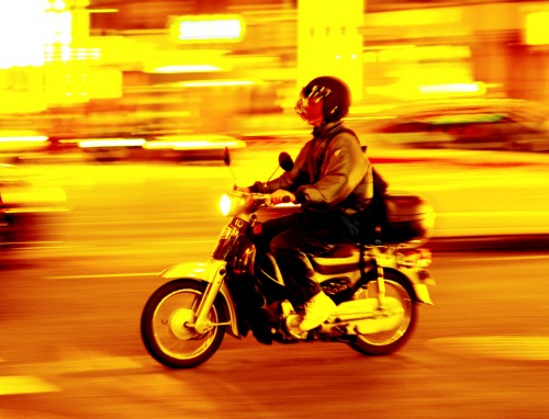 Lots of experiences, exemplified by a food delivery motorbiker in Korea - Erik Winther 2012
